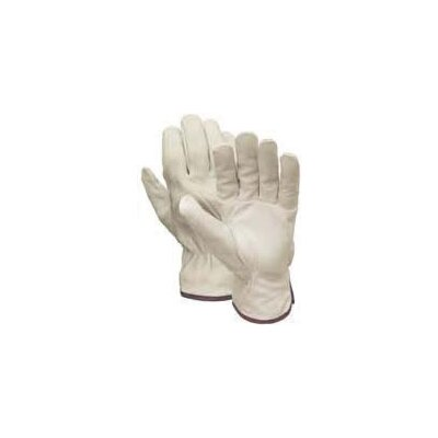 Wells Lamont Small Grain Cowhide Drivers Glove With Keystone Thumb, Bound Hem and Elastic Shirred Back