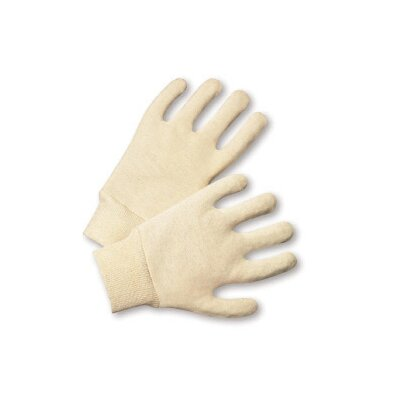 West Chester Men's White 10 40180 Ounce Cotton Jersey Gloves