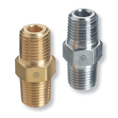 Western Enterprises Pipe Thread Hex Nipples - we b-8hp nipple