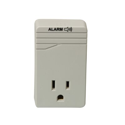 Woods Wire 1-Outlet Surge Protector Tap with Alarm