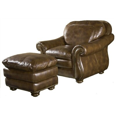 Hanover Leather Chair and Ottoman