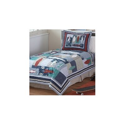 PEM America Surfing USA Twin Quilt with Pillow Sham