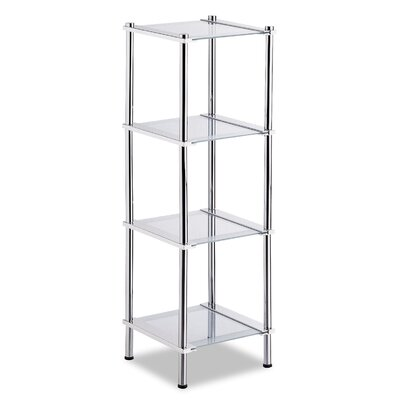 OIA Contas 4 Tier Etagere in Chrome
