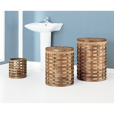 OIA Havana Hamper with Wastebasket (Set of 3)