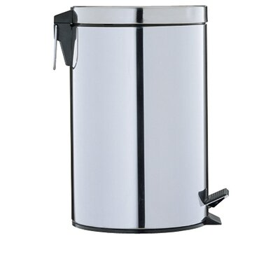 OIA Round Step-On Trash Can in Stainless Steel (3.125 Gal)
