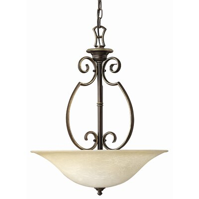Hinkley Lighting Cello 3 Light Foyer Inverted Pendant
