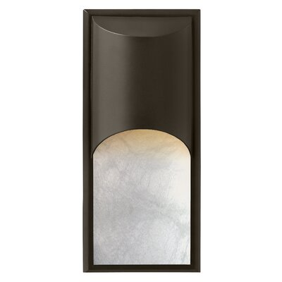 Hinkley Lighting Cascade One Light Large Outdoor Wall Lantern with Alabaster Glass