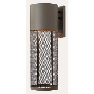 Hinkley Lighting Aria One Light Large Outdoor Wall Lantern in Buckeye Bronze