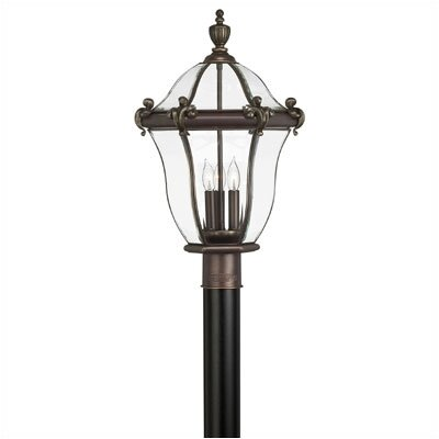 Hinkley Lighting San Clemente 3 Light Outdoor Post Lantern