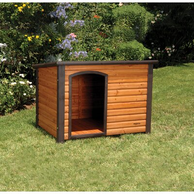 Precision Pet Products Outback Extreme Log Cabin Dog House in Cedar