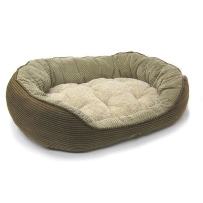 Precision Pet Products Pillow Soft Daydreamer Bolster Pet Bed in Brown