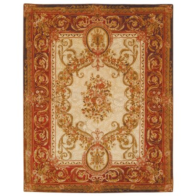 Empire Louis XVI Gold/Red Rug