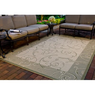 Safavieh Courtyard Natural/Olive Rug