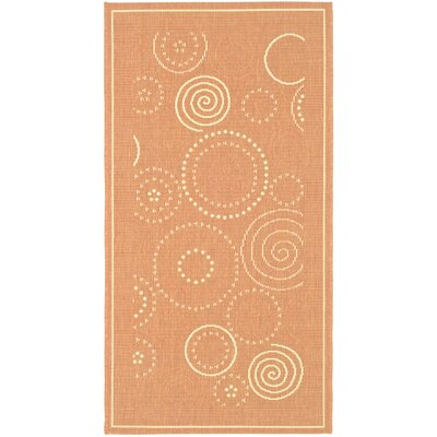 Safavieh Courtyard Terracotta/Natural Circle Rug