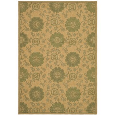 Safavieh Courtyard Natural/Green Rug