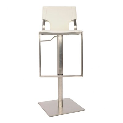 Liam Leather Barstool in White