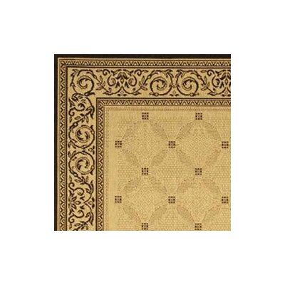 Safavieh Courtyard Ivory/Black Border Rug