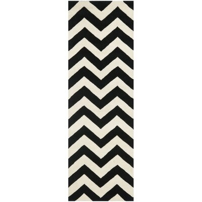 Chatham Ivory/Black Chevron Rug