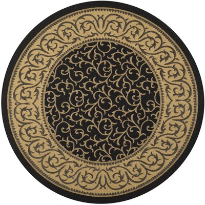 Courtyard Natural/Gold Floral Rug