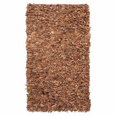Safavieh Leather Shag Brown Rug