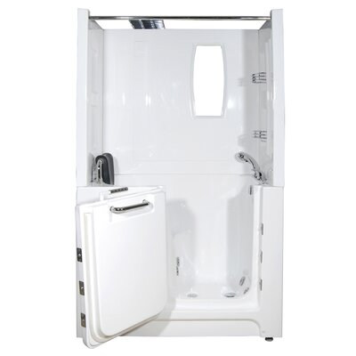 "Therapeutic Tubs Telluride 27"" x 47"" Soaker Walk In Bath Tub with Right Hand Drain"