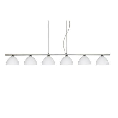 Besa Lighting Brella 6 Light Linear Pendant