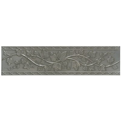 "Mohawk Flooring Accent Statements Metal 3"" x 12"" English Ivy Decorative Border in Vintage Pewter"