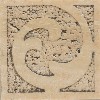 "Mohawk Flooring Natural Bella Rocca 3"" x 3"" Sandblasted Decorative Accent Insert"