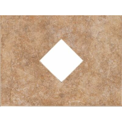 "Mohawk Flooring Natural Bella Rocca 12"" x 9"" Decorative Diamond Cut-Out Tile in Etruscan Gold"