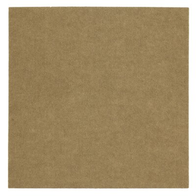 "Mohawk Flooring Ribbed 18"" x 18"" Carpet Tile in Putty"