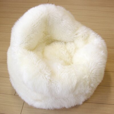 Bowron Sheepskin Rugs Luxury Pear Bean Bag Chair