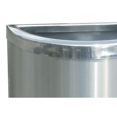 Commercial Zone Precision Series Half Moon Trash Can