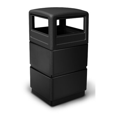 Commercial Zone 38 Gallon 3-Tier Waste Container with Dome Lid