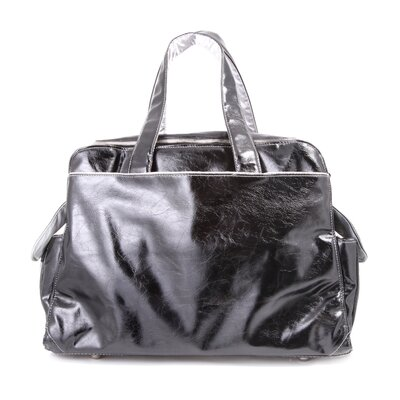 Ju Ju Be Be Prepared Messenger Diaper Bag in Black/Silver
