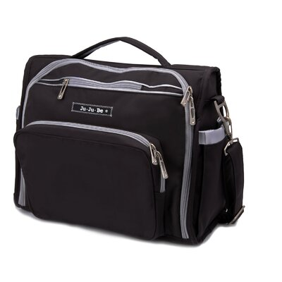BFF Messenger / Backpack Diaper Bag in BlackSilver
