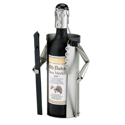 Old Dutch International Downhill Skier Wine Bottle Buddy