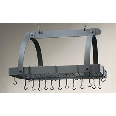 Decor Pot Rack with Grid & Hooks