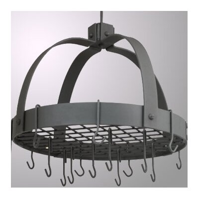 Old Dutch International Dome Decor Pot Rack w/ Grid & Hooks
