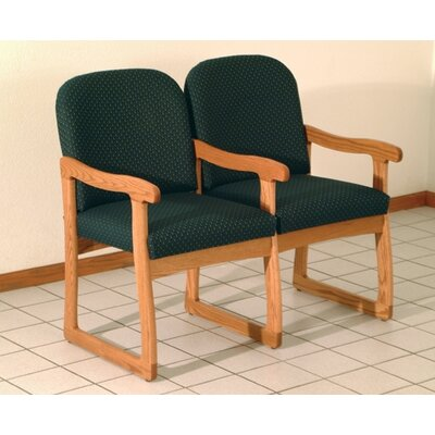 Wooden Mallet Prairie Two Seat Guest Chair