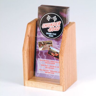 Wooden Mallet Countertop Single Pocket Brochure Display