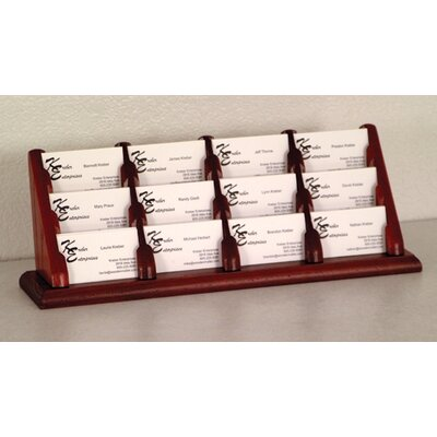 Wooden Mallet Twelve Pocket Counter Top Business Card Holder