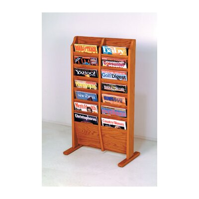 Wooden Mallet Free Standing Fourteen Pocket Magazine Rack
