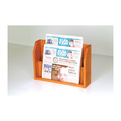 Wooden Mallet Countertop Two Pocket Newspaper Display