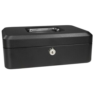 Small Black Cash Box with Key Lock