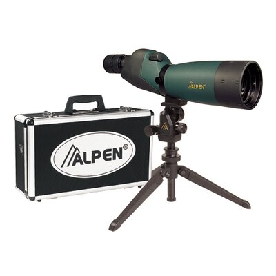Alpen Outdoor 20-60x60 Waterproof Spotting Scope Kit with 45 Degree Eye Piece