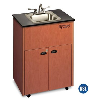 "Ozark River Portable Sinks Premier 26"" x 18"" 1 Portable Hand-Washing Station with Storage Cabinet"