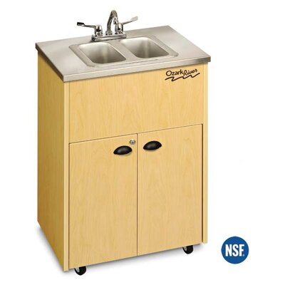 Ozark River Portable Sinks Silver Premier 2 Stainless Steel Portable Double Hand-Washing Station NSF Certified