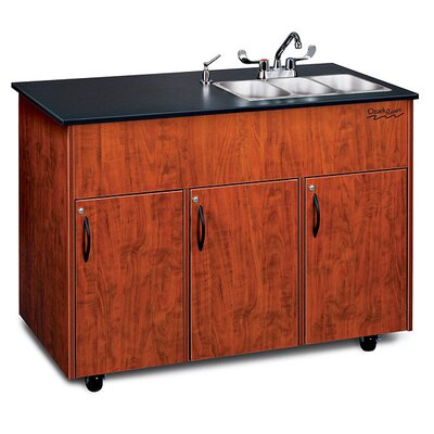 "Ozark River Portable Sinks Advantage 50"" x 24"" 3 Triple Bowl Portable Sink with Storage Cabinet"