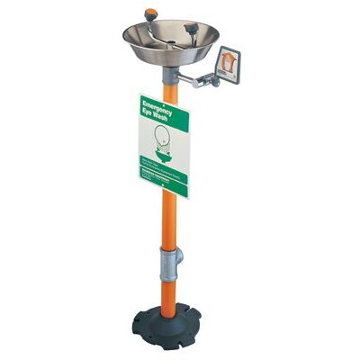 Guardian Equipment Pedestal Mounted Eye Washes - 2-head emergency eye wash pedestal mounted