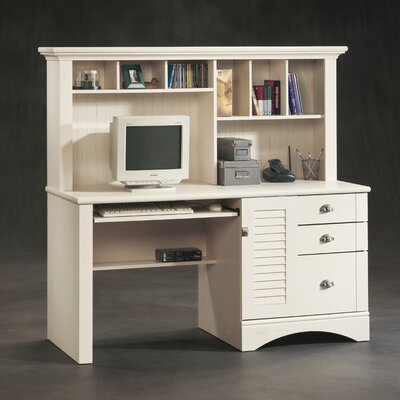 "Sauder Harbor View 62.25"" Computer Desk with Hutch"